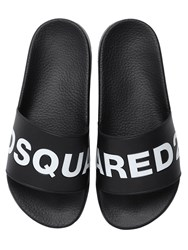 Dsquared Dune Logo Rubber Slide Sandals