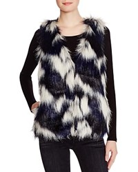 Romeo Juliet Couture Faux Fur Patchwork Vest Compare At 218 Navy Black White