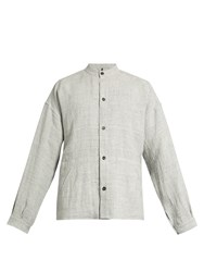 Helbers Oversized Lightweight Linen Jacket Light Grey