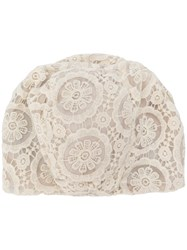 Antonio Marras Lace Embroidered Fitted Hat White