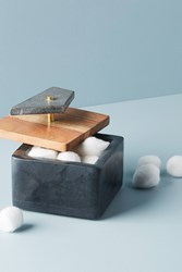 Anthropologie Stonemaker Jewelry Box Grey
