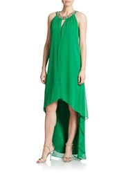 Vince Camuto Embellished High Low Dress Green