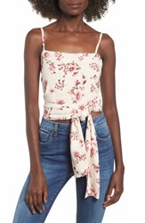 Amuse Society Only You Knot Waist Top Sand
