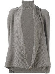 N.Peal Shawl Collar Cardigan Grey