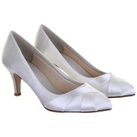 Rainbow Club Lexi Satin Toe Point Court Shoes Ivory