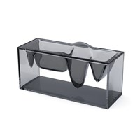 Lexon Liquid Station Desktop Organiser Smoky Grey