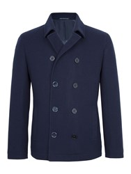 Paul Costelloe Men's London Wool Rich Peacoat Navy