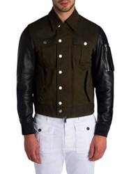 Dsquared Military Mix Jacket Blue Green