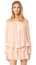 Loveshackfancy Smocked Peplum Blouse Powder Pink