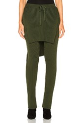 Baja East Cotton Wide Rib Pant In Green