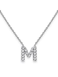 Kc Designs Diamond Initials 14K White Gold Pendant Necklace No Color