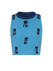 Mother Of Pearl Morley Embellished Cropped Top