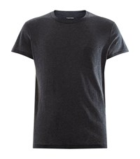 Tom Ford Cotton And Cashmere T Shirt Male Charcoal