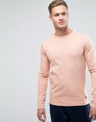 Redefined Rebel Sweatshirt With Curved Hem Faded Rose Pink