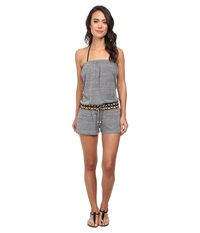 Lucky Brand Sahara Romper Cover Up Grey Heather Women's Swimwear Gray