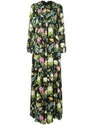 Vilshenko Floral And Butterfly Gown Multicolour