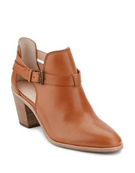 G.H. Bass Sylvia Leather Ankle Boots Cognac