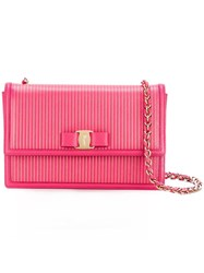 Salvatore Ferragamo 'Vara' Crossbody Bag Pink Purple