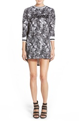 Eleven Paris 'Moonrise' Long Sleeve T Shirt Dress Moon Marble