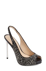 Imagine By Vince Camuto Women's 'Pavi' Slingback Peep Toe Pump Black Nappa