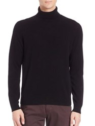 Saks Fifth Avenue Turtleneck Cashmere Sweater Bordeaux Black Charcoal