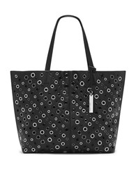 Vince Camuto Leather Grommet Tote Black