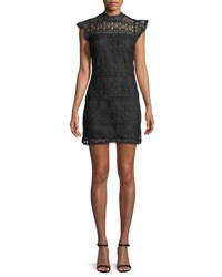 Cupcakes And Cashmere Delight Sleeveless Lace Sheath Dress Black