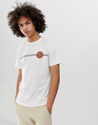 Santa Cruz Og Classic Dot T Shirt In White