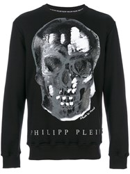 Philipp Plein Skull Print Jumper Men Cotton S Black
