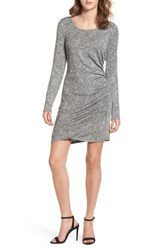 Love Fire Women's Ruched Knit Dress Heather Grey