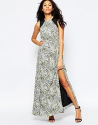 Sugarhill Boutique Lottie Smudge Print Maxi Dress Multi