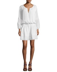 Vince Lace Inset Popover Dress Off White Women's Size Xx Small