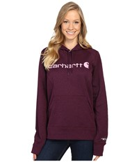 Carhartt Force Extremes Signature Graphic Hooded Sweatshirt Potent Purple Heather Women's Sweatshirt