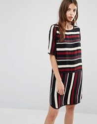 Y.A.S Stripe Dress Black Stripe Multi