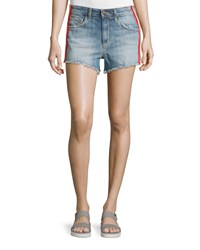 Joe's Jeans Kaili Striped Cutoff Jean Shorts Blue