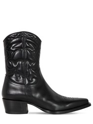 Dsquared 50Mm Quilted Leather Cowboy Boots Black