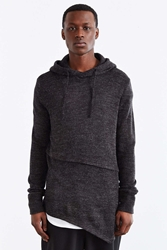 The Narrows Asymmetrical Hooded Sweater Dark Grey