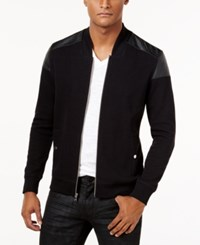 Inc International Concepts Men's Lockdown Bomber Jacket Only At Macy's Deep Black
