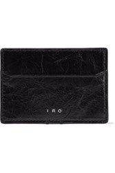 Iro Cracked Leather Cardholder Black