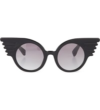 Jeremy Scott Winged Corner Sunglasses Black