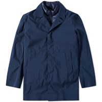 C.P. Company 3 Layer Waterproof Trench Coat Blue