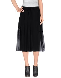 Blk Dnm Skirts 3 4 Length Skirts Women Black