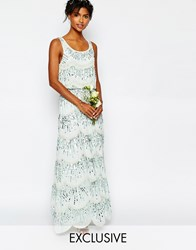Maya Chiffon Maxi Dress With Embellishment Green