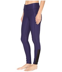 Lucy No Excuses Tights Pure Indigo Velocity Jacquard Women's Workout Purple