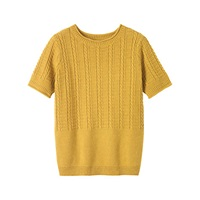 Toast Crew Neck Jumper Ochre