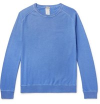 Massimo Alba Garment Dyed Cotton And Cashmere Blend Sweater Blue