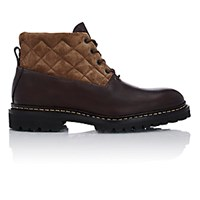 Heschung Men's Quilted Shaft Vancouver Boots Dark Brown
