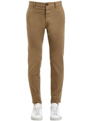 Dsquared 16.5Cm Admiral Stretch Cotton Pants Beige