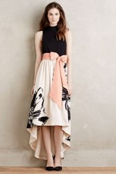 Anthropologie Sumi Mockneck Gown Cream