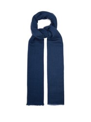 Denis Colomb Summer Kasumi Cashmere Scarf Navy